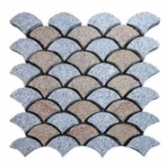 Multi Color Mesh Granite Paving 5