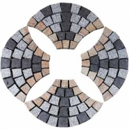 Muti Color Mesh Granite Paving 2