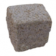 G682 Sunset Yellow Granite Cube Stone Top Surface Bush Hammered Other Side Natural (CS011)