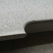 G603 Luner Pearl Salt and Pepper Grey Granite L Shape Flamed Finish Swimming Pool Copping Tile with