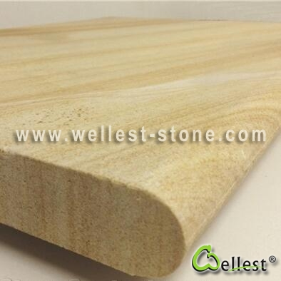 SY152 Yellow Sandstone Swimming Pool Copping Tile with Bullnose Edge 1