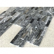 Tree Black /Ancien Wood Grain Marble Ledge Stone Split+Polished Finished
