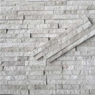 White Wood Marble Ledge Stone Z Shape split finished