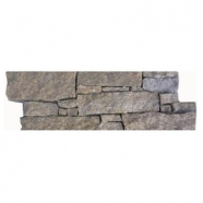 Q026 Iron Rusty Quartzite Cement Base Ledge Stone