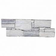 QL061 Cloudy Grey Quzrtzite Cement Base Ledge Stone