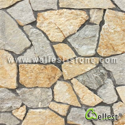LS-100+101 Yellow and Light Grey Green Panel Loose Stone