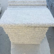 G603 Lunar Pearl Grey White Granite Flamed Anti-slip Swimming Pool Coping