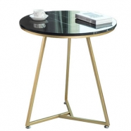M501 Black Marquina Marble Round Coffee/Tea/ Restaurant Table
