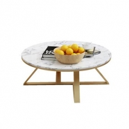 M821 Calacatte White Mable Round Coffee/Tea/ Restaurant Table 2
