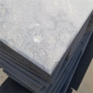 Q036 Cloudy Grey White Quartzite Marble Coping Stone With Bevel Edge
