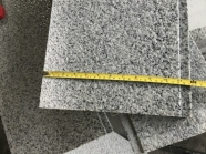 G603 Lunar Pearl Light Grey Granite Bush Hammered Finish Wall Tile with Grooved 2