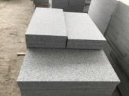 G603 Lunar Pearl Light Grey Granite Bush Hammered Tile 2