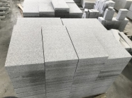 G603 Lunar Pearl Light Grey Granite Bush Hammered Tile 4