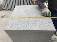 G603 Lunar Pearl Light Grey Granite Flamed Tile 1