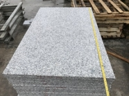 G603 Lunar Pearl Light Grey Granite Flamed Wall Cladding Tile With Groove 3