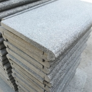 G654 Medium Grey Granite Drop Face Bullnose Edge Coping With Flamed Finish 2