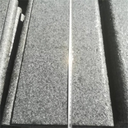 G654 Medium Grey Granite Drop Face Bullnose Edge Coping With Flamed Finish 3