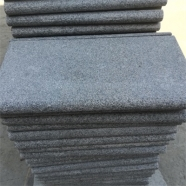 G654 Medium Grey Granite Drop Face Bullnose Edge Coping With Flamed Finish 4